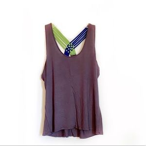 Rue 21 Gray Tank Top with Back Detail
